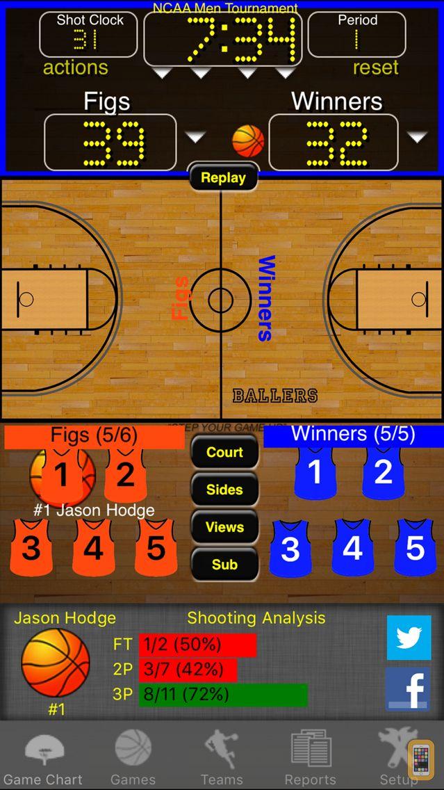 Screenshot - Ballers Basketball Stats