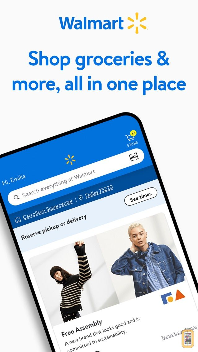 Screenshot - Walmart - Save Time and Money