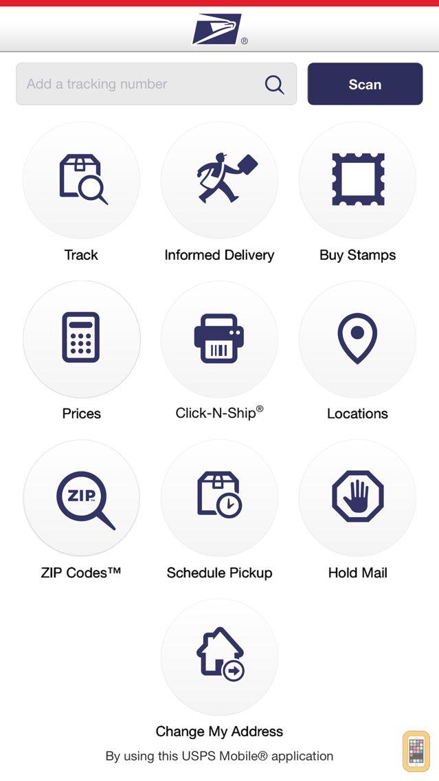 Screenshot - USPS Mobile®