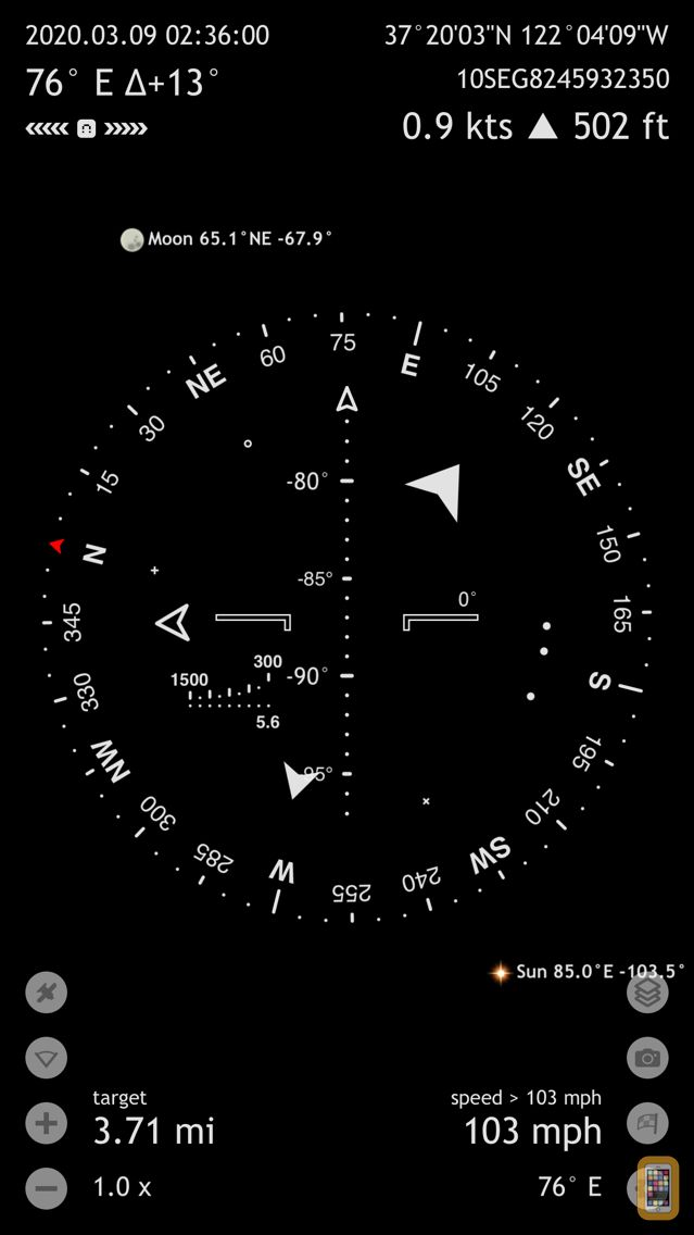 Screenshot - Commander Compass Go