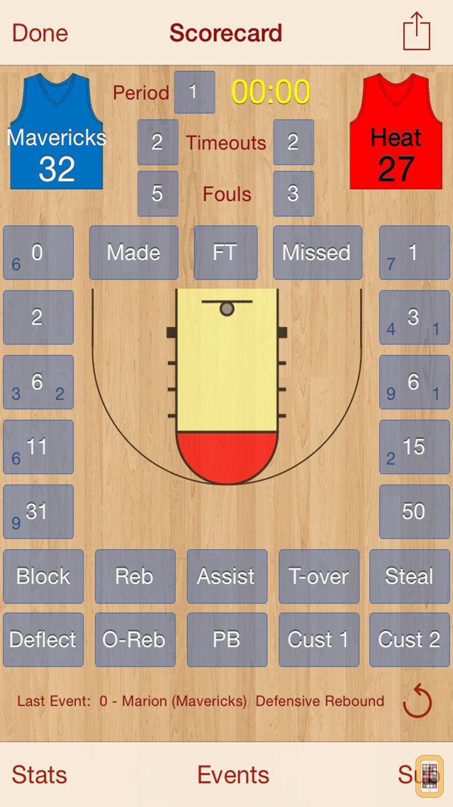 Screenshot - HoopStats Basketball Scoring