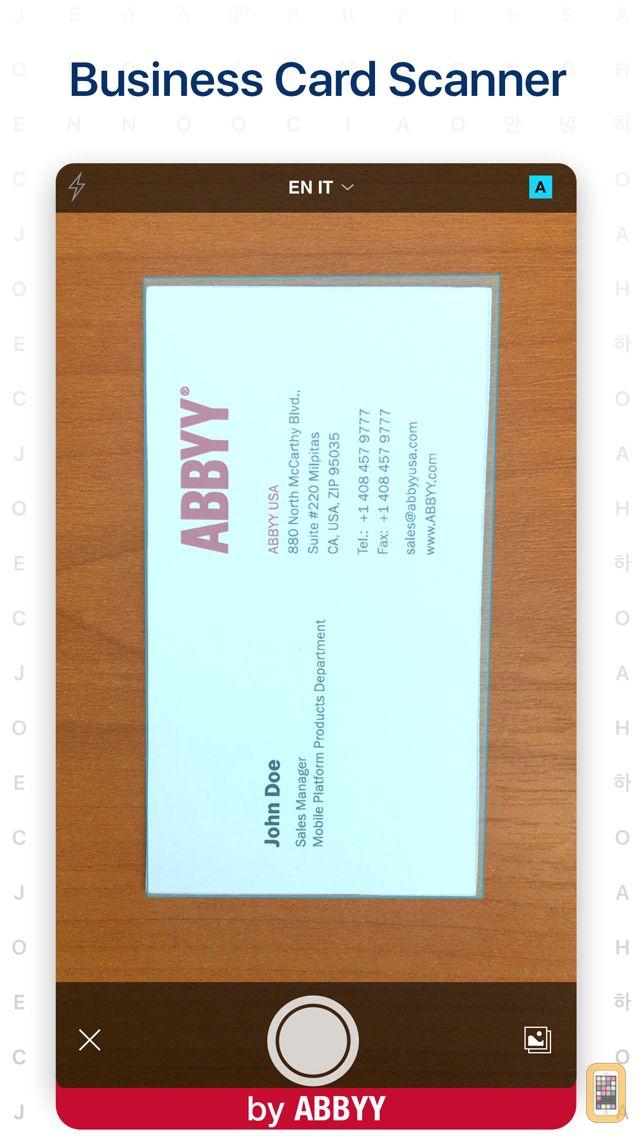 Screenshot - ABBYY Business Card Reader Pro