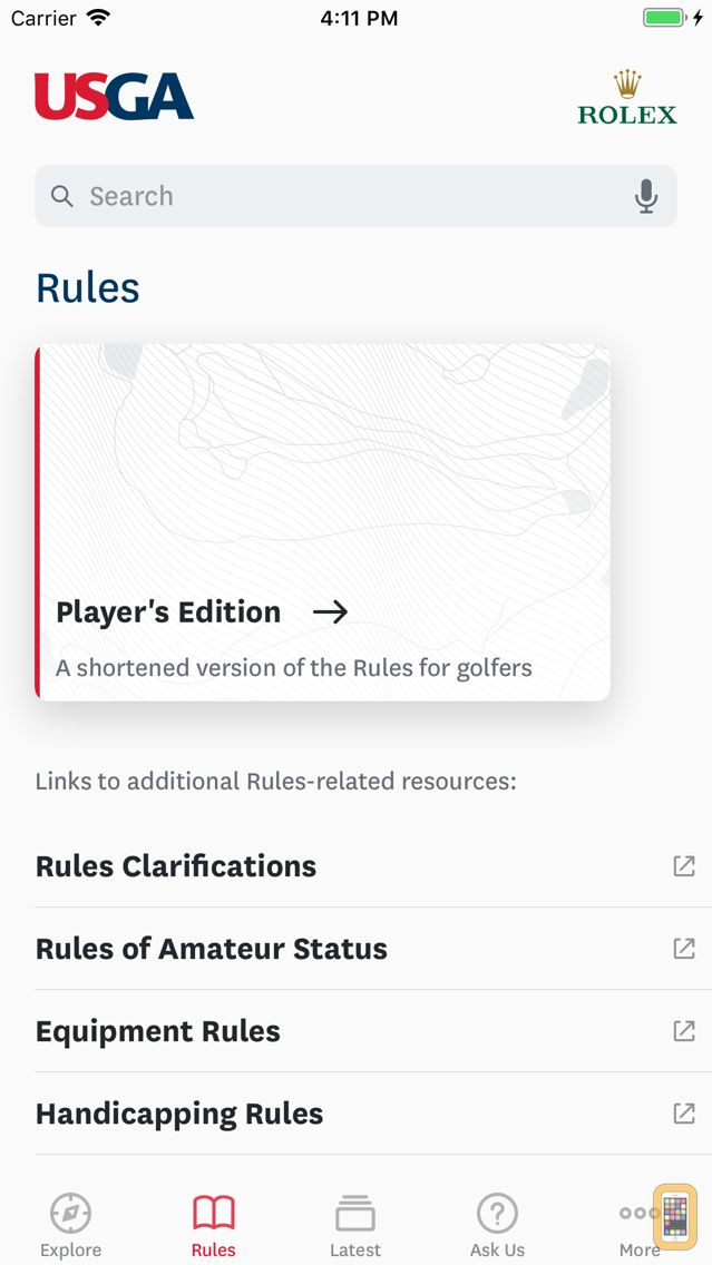Screenshot - The Official Rules of Golf