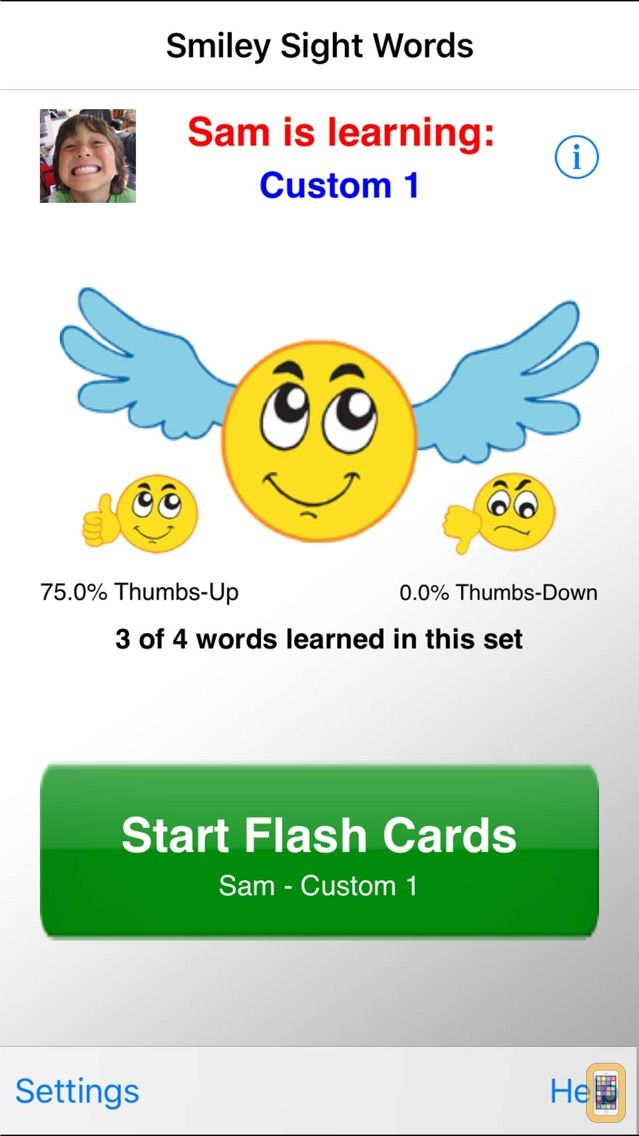 Screenshot - Smiley Sight Words
