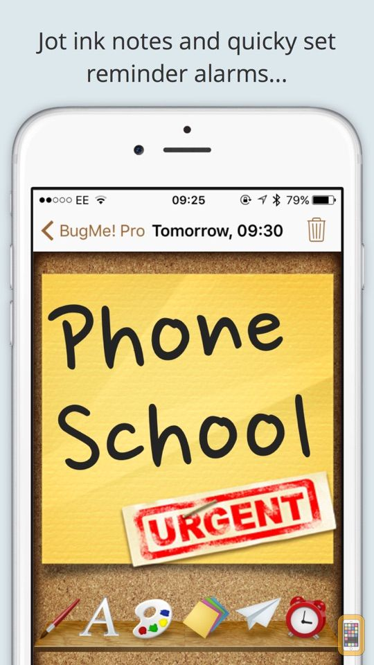 Screenshot - BugMe! Stickies Pro - Ink Notepad, Reminders and Alarms