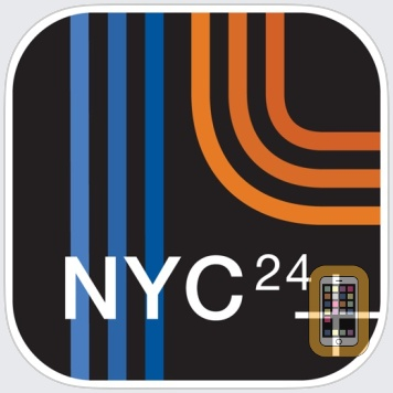 NYC Subway 24-Hour KickMap+ by KICK Design Inc (Universal)