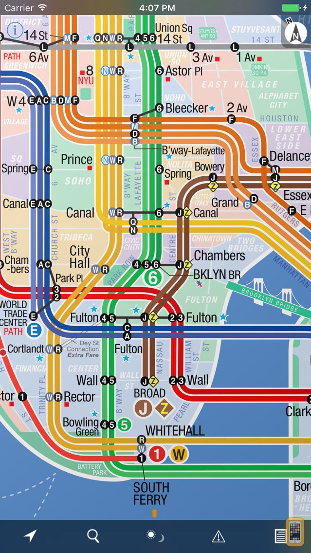 Screenshot - NYC Subway 24-Hour KickMap+