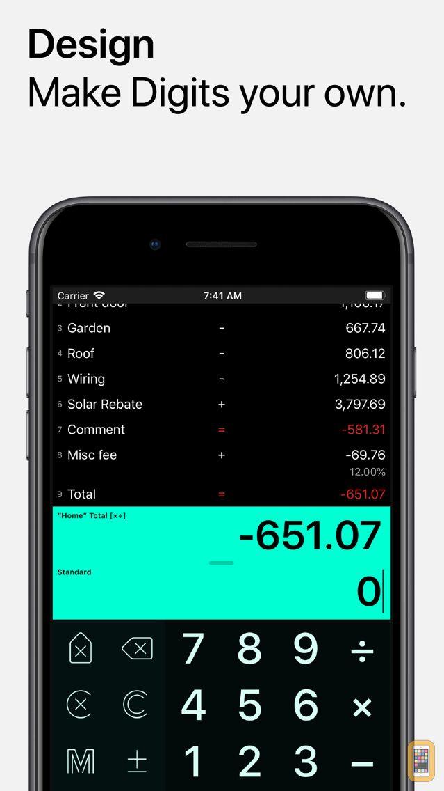 Screenshot - Digits Tape Calculator