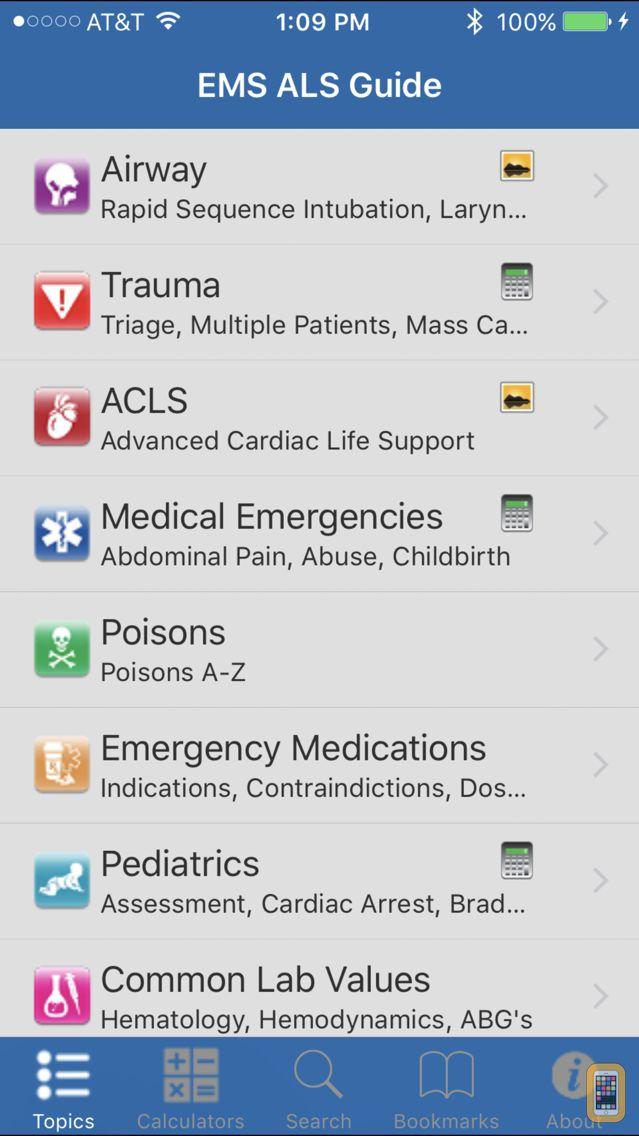 Screenshot - EMS ALS Guide