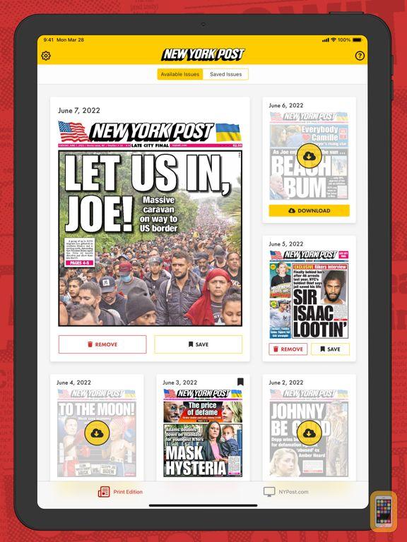 Screenshot - New York Post iPad Edition