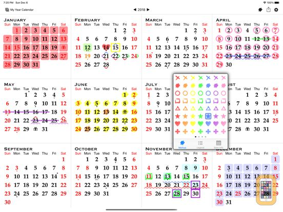 Screenshot - All-in-One Year Calendar