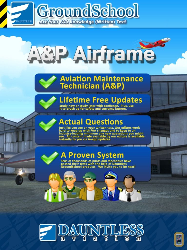 FAA A&P Airframe Test Prep for iPhone & iPad - App Info & Stats