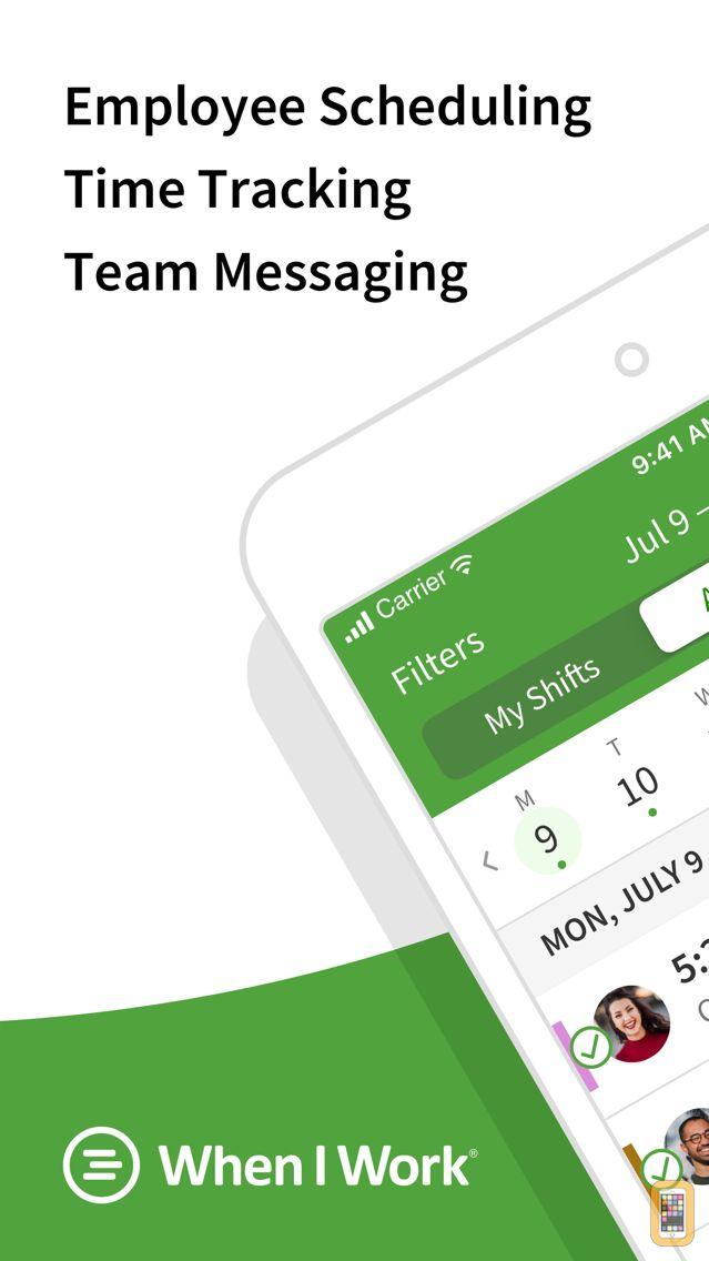 Screenshot - When I Work Staff Scheduling