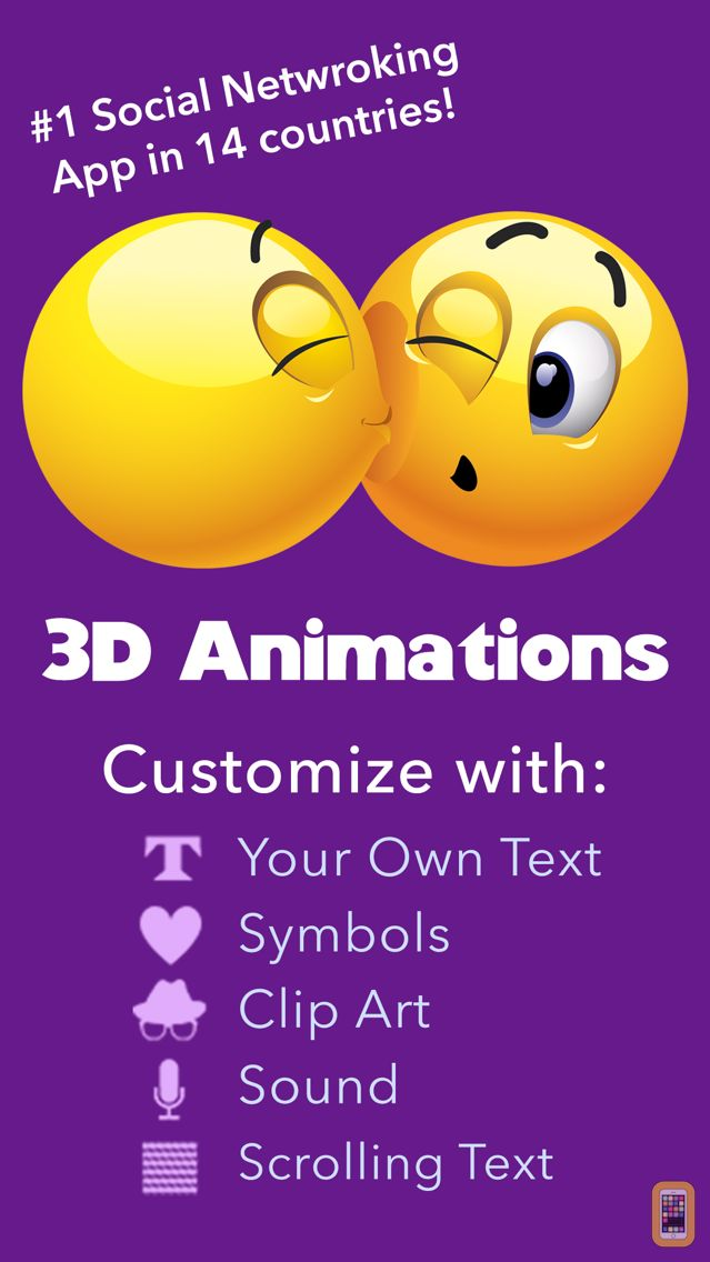 Screenshot - 3D Animations + Emoji Icons