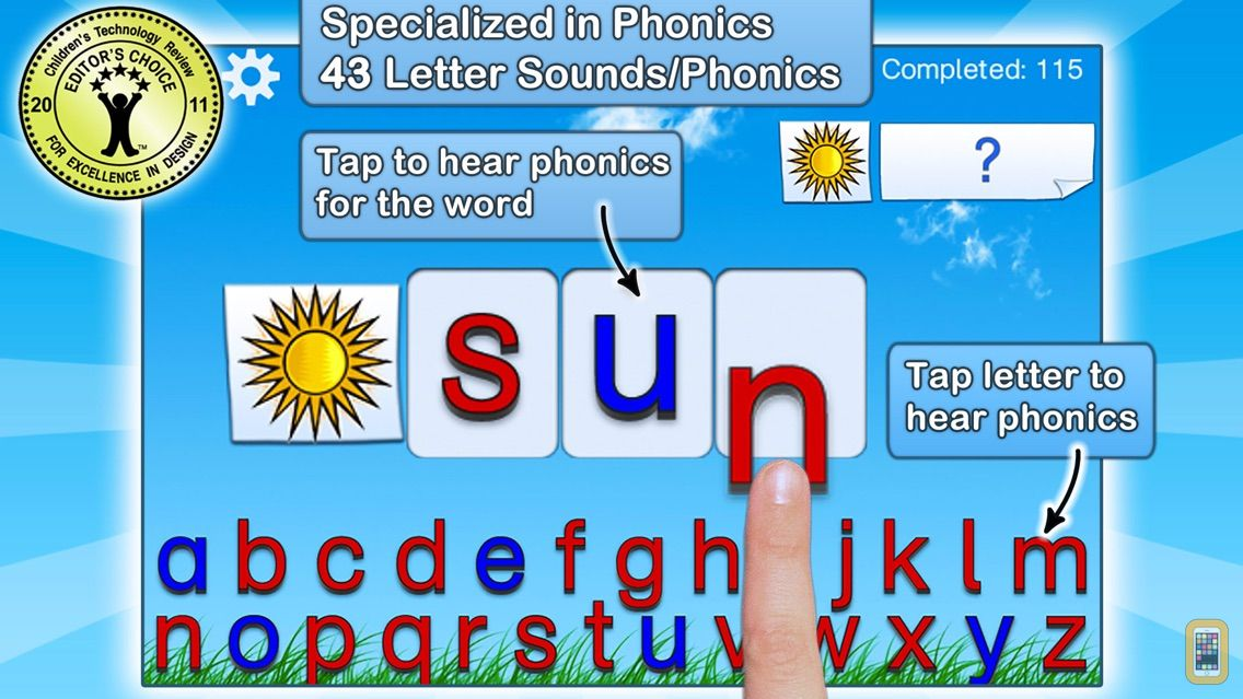 Screenshot - Montessori Crosswords - Fun Phonics Game for Kids