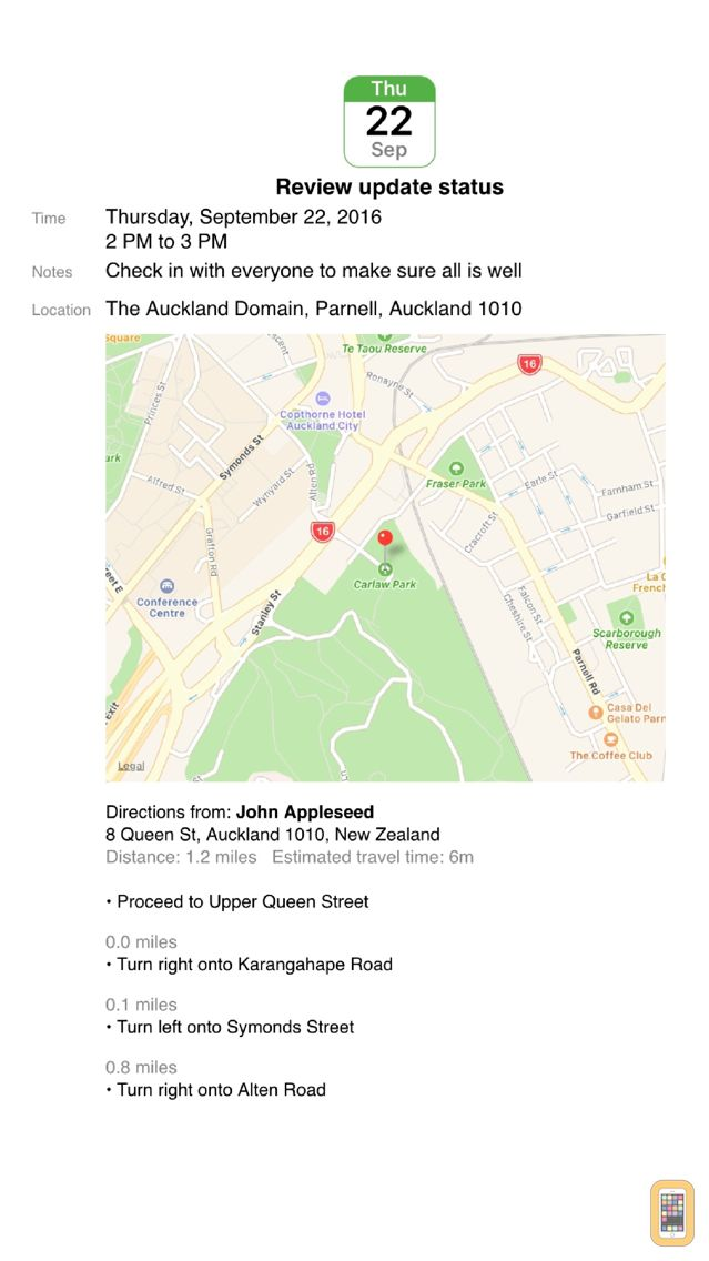 Screenshot - CalPrint for iPhone