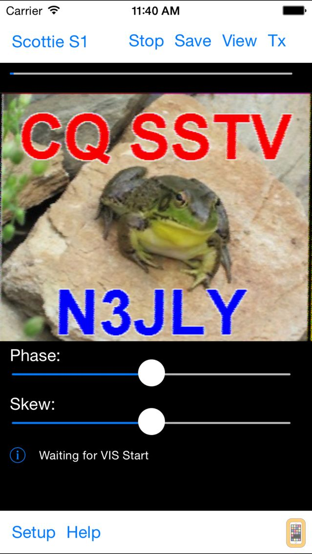Screenshot - SSTV Slow Scan TV