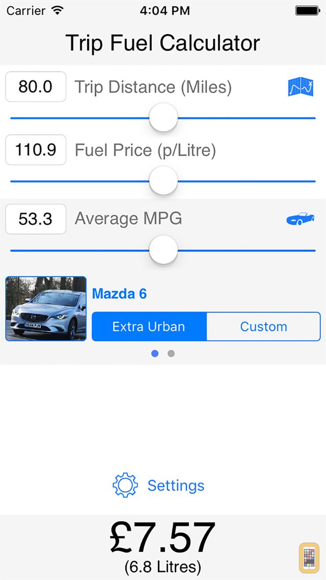 Screenshot - Trip Fuel Calculator