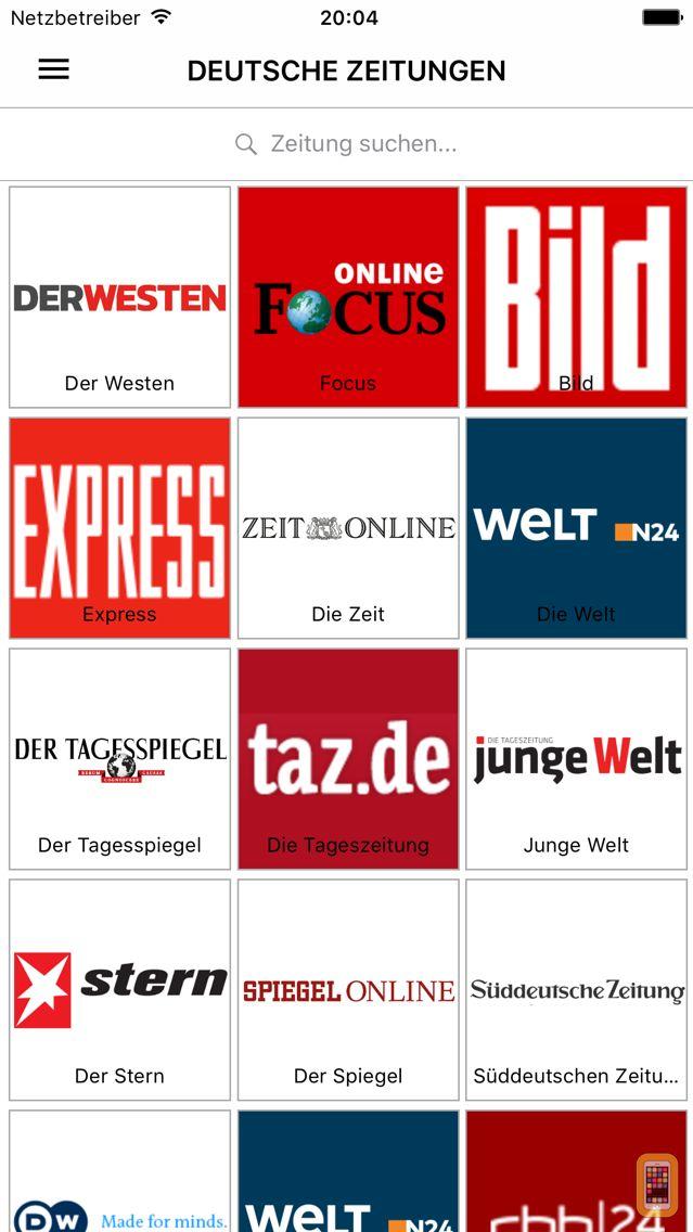 Screenshot - Deutsche Zeitungen - German Newspapers by sunflowerapps