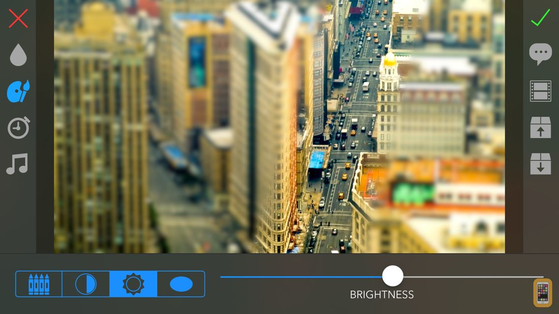 Screenshot - TiltShift Video - Miniature effect for movies and photos