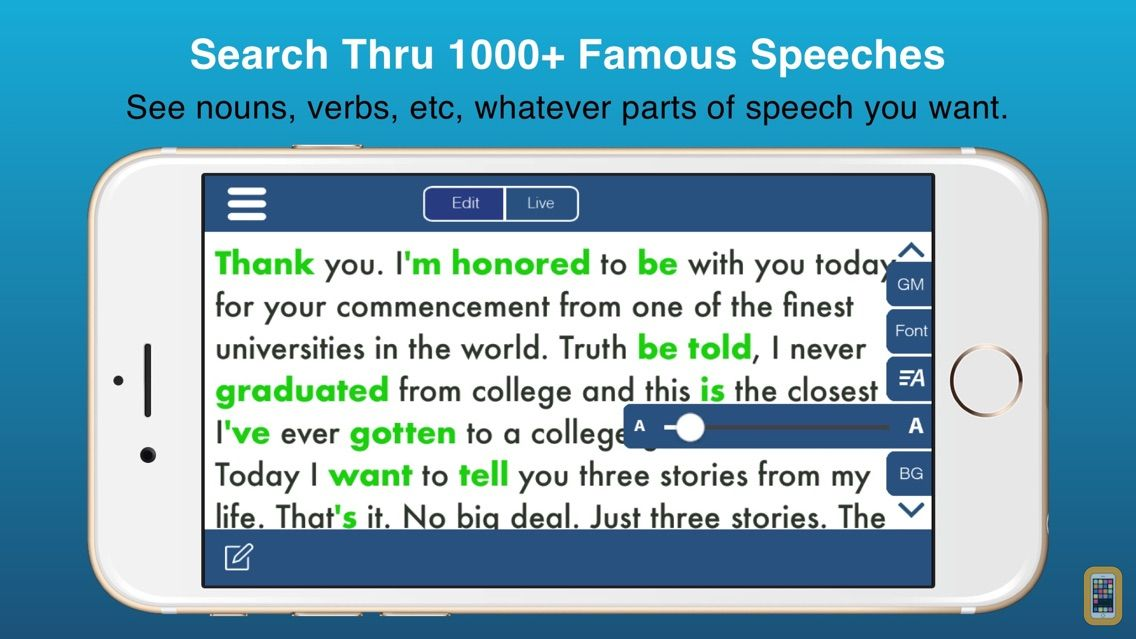 Screenshot - Public Speaking Teleprompter