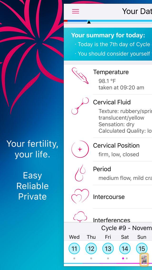 Screenshot - Lily - Your Personal Fertility Calculator