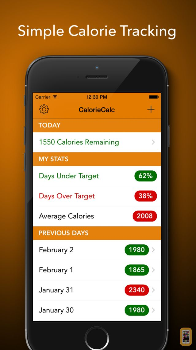 Screenshot - CalorieCalc - Fast & Simple Calorie Counter, Stay Fit And Healthy
