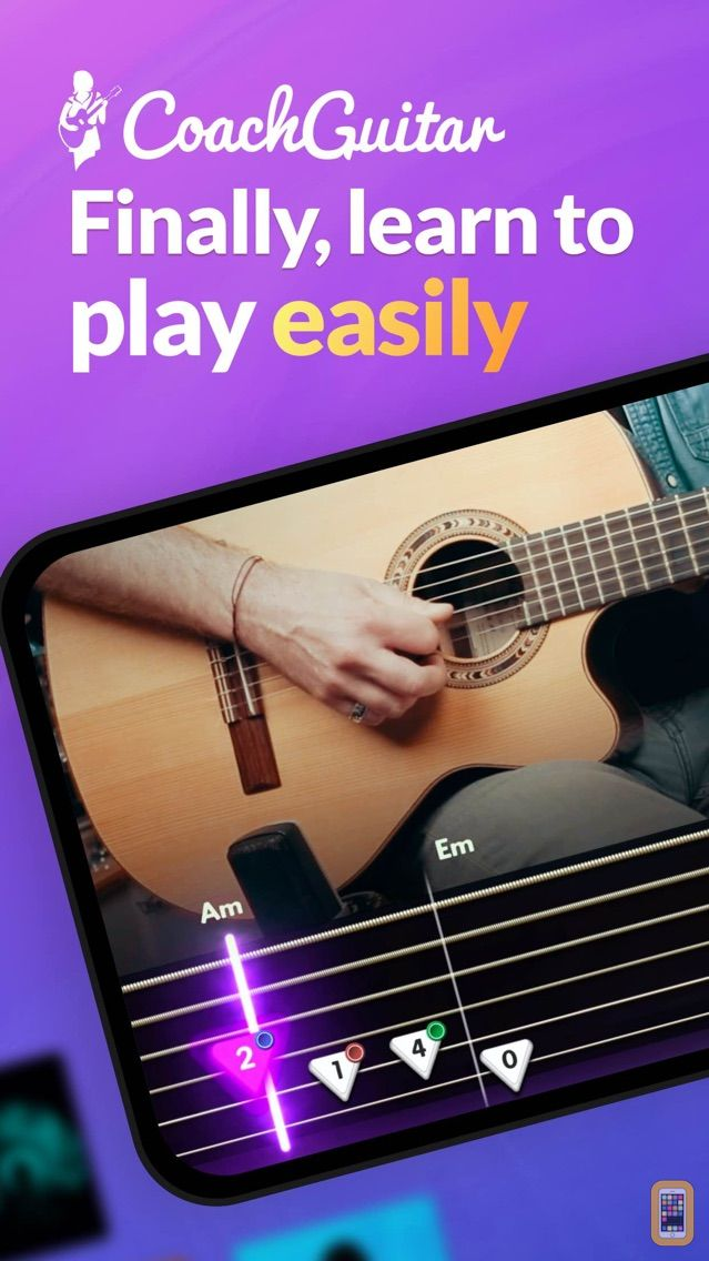 Screenshot - Coach Guitar Lessons tuner tab