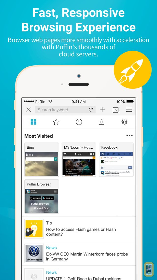 Screenshot - Puffin Browser Pro