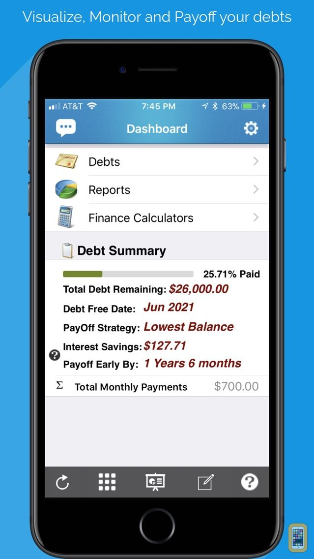 debt free - pay off your debt for iphone  u0026 ipad