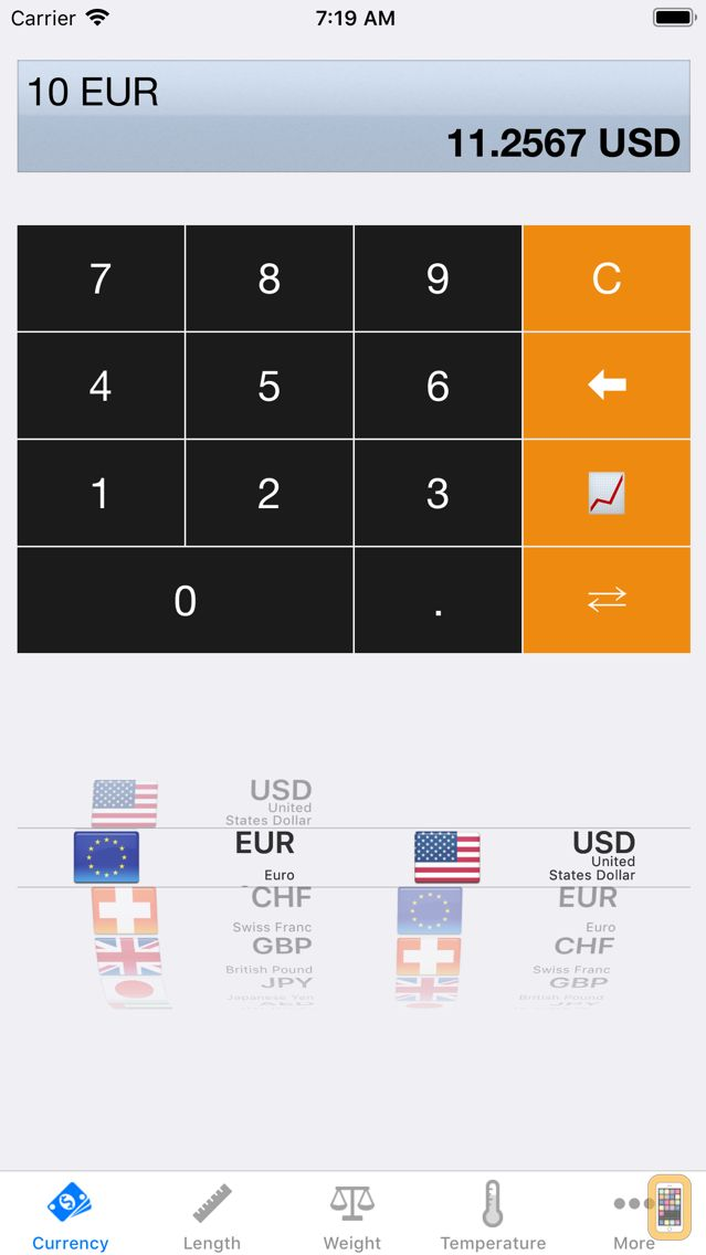 Screenshot - iConvert - Unit and Currency