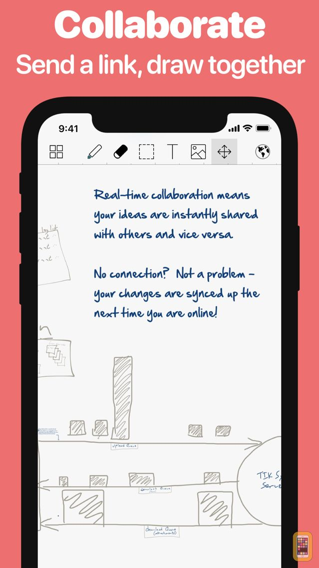 Screenshot - SyncSpace: Collaborative Zoomable Whiteboard