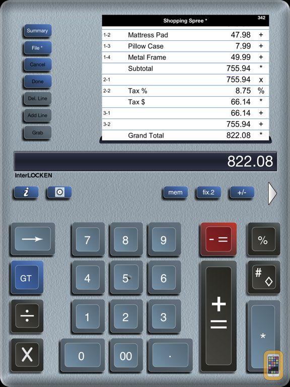 Screenshot - Adding Machine 10Key for iPad