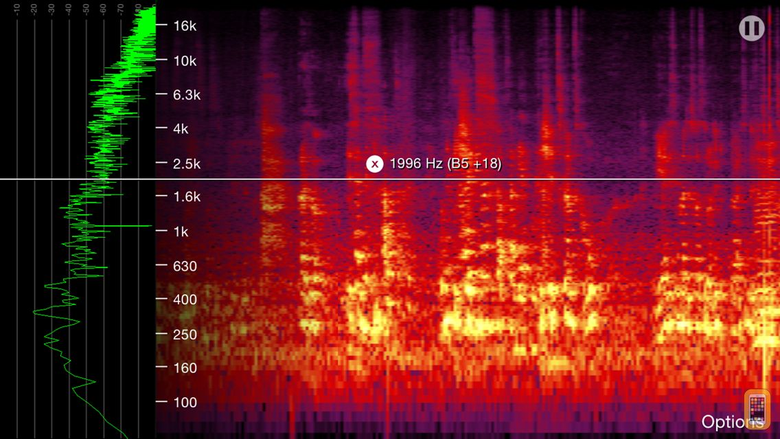 Screenshot - Spectrogram Pro (with super-smooth 60Hz update)