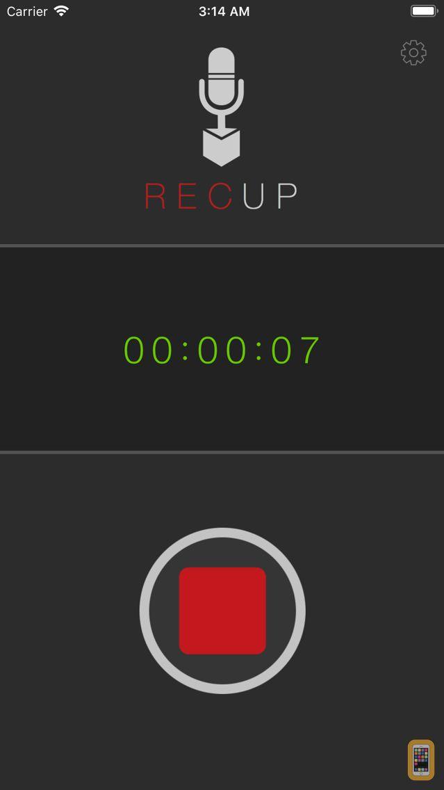 Screenshot - RecUp - Record to the Cloud