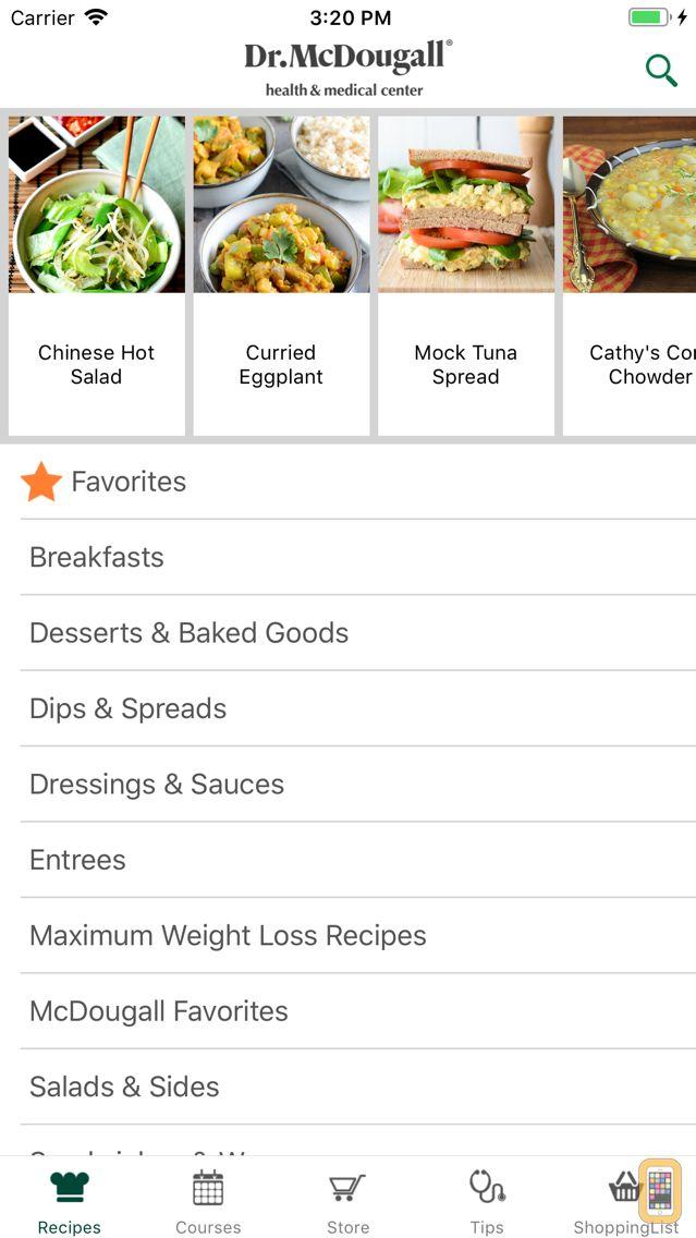 Screenshot - Dr. McDougall Mobile Cookbook