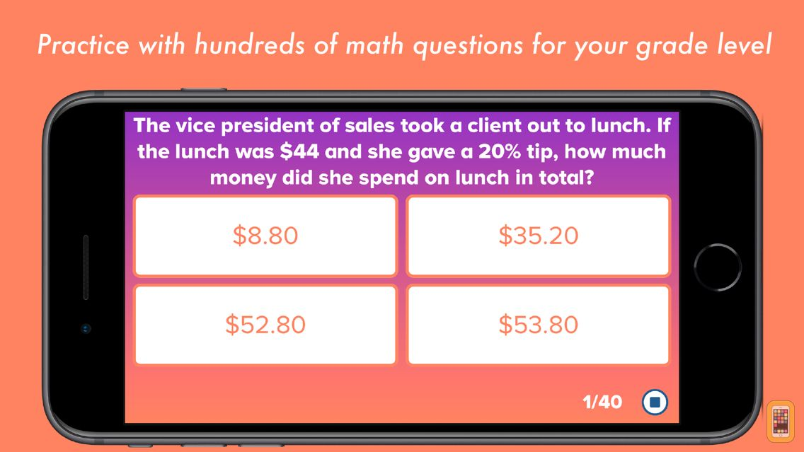 Screenshot - 6th Grade Math Testing Prep
