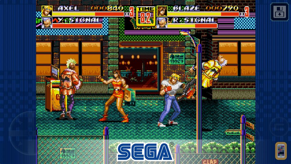 Screenshot - Streets of Rage 2 Classic