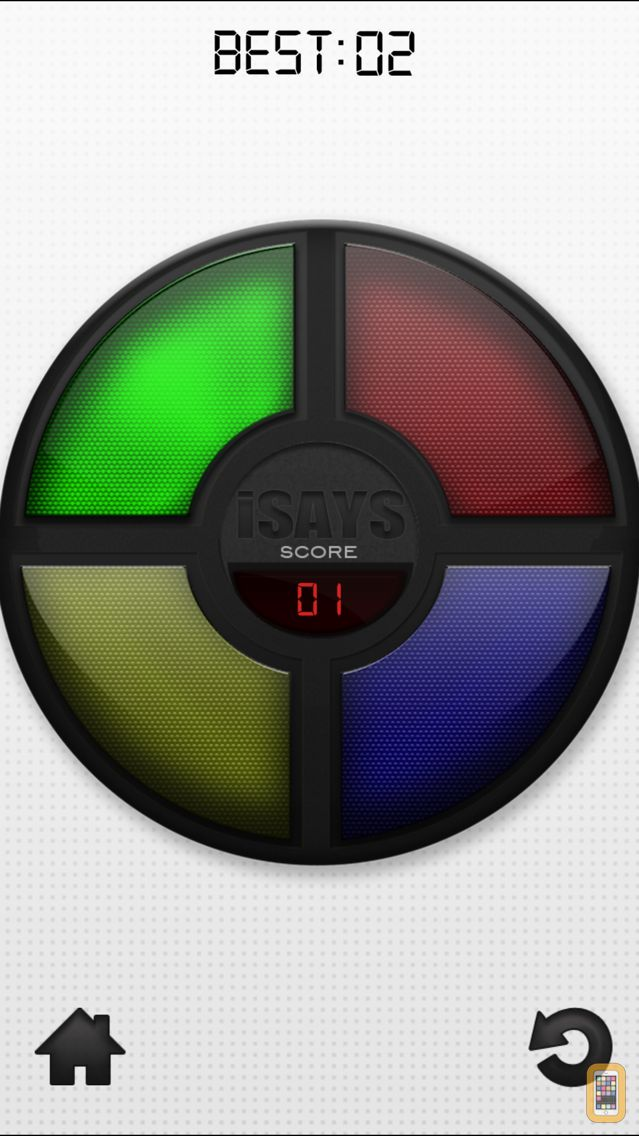 Screenshot - iSays - Simon Says Classic Color Switch Memory Game