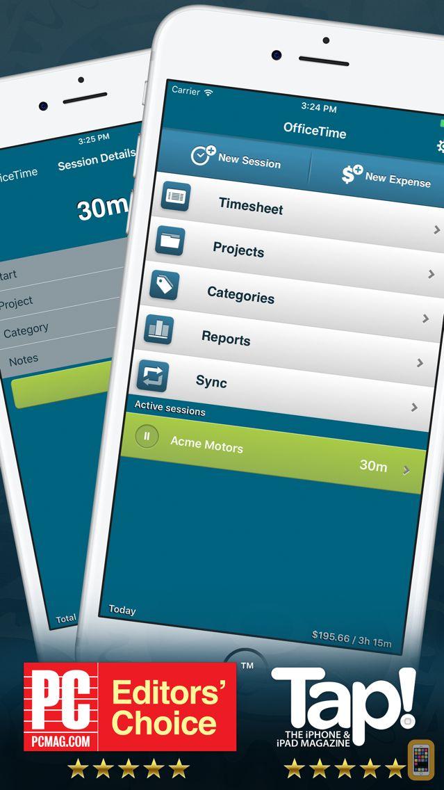 Screenshot - OfficeTime Time Keeper Pro