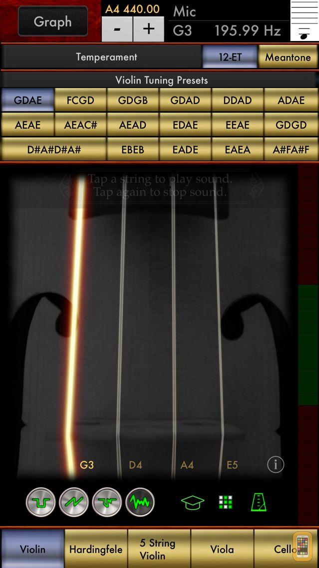 Screenshot - Violin Multi-Tuner