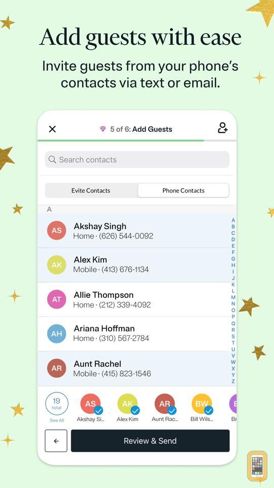 Screenshot - Evite: Online & Text Invites