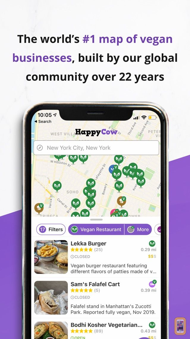 Screenshot - HappyCow Find Vegan Food