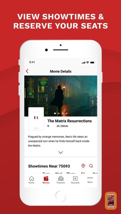 Cinemark Theatres for iPhone & iPad - App Info & Stats | iOSnoops