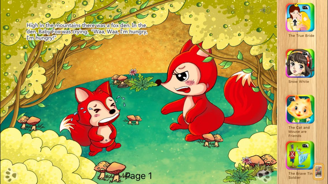 Screenshot - The Fox and the Grapes - Fairy Tale iBigToy