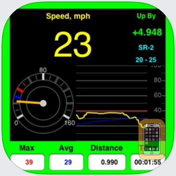 AudibleSpeed (GPS Speed Monitor) - Express Edition by OK Apps (iPhone)