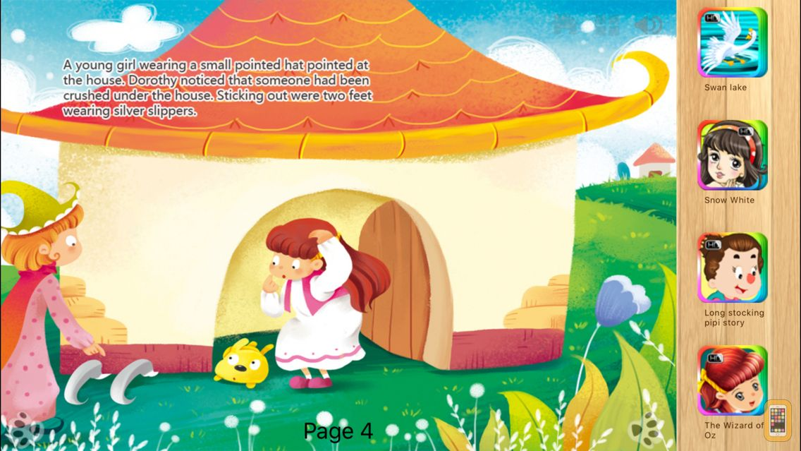 Screenshot - The Wizard of Oz - bedtime fairy tale Interactive Book by iBigToy