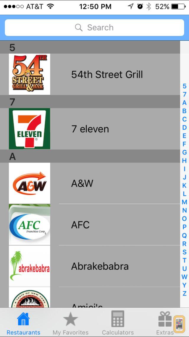 Screenshot - Smart Fast Food Calculator App