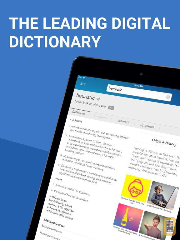 Screenshot - Dictionary.com Pro for iPad