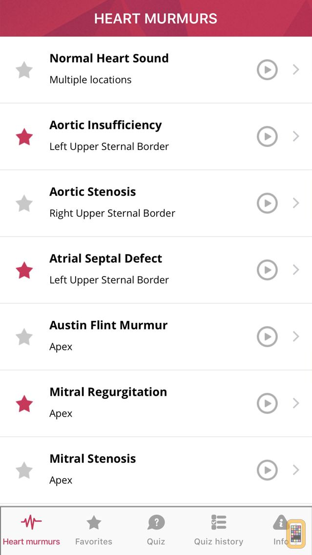 Screenshot - Heart Murmurs Pro